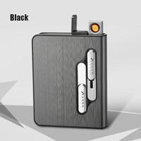 Wholesale lighter custom for sale - Group buy New Style USB Charging Cigarette Box Lighter Sticks Tungsten Cigarette Lighter Electronic Lighter Personality Diy Custom