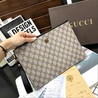 los hombres agarran gran capacidad al por mayor-billetera de cuero de lujo bolsa de titular de la tarjeta monedero bolsa de embrague de cuero de negocios de alta gama de gran capacidad carpeta ocasional del mensajero de los hombres 666