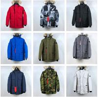 ingrosso giacche invernali cappotto di oca-Canada Goose Giacca dallo stile rilassato di nuovo stile PBI EXPEDITION PARKA FUSION FIT Cappotti invernali da uomo