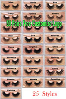 Wholesale thick lash extensions resale online - 3D Mink Eyelashes Natural False Eyelashes D Mink Lashes Soft make up Extension Makeup Fake Eye Lashes D Series