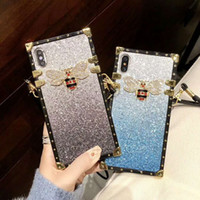 Wholesale apple france online - 2019 New Arrival Luxury Phone Case for IphoneX XS XR XSMAX P P P sP s France Italy Designer Iphone Case with Lanyards