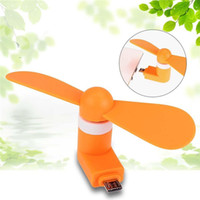 Wholesale summer cooling gadgets for sale - Group buy Pocket Fans USB Gadget Portable Summer Micro USB Cooling Fan Mini Fan Universal For Xiaomi Android OTG Phones Power Bank Laptop DDA284