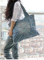 beutel reis großhandel-Mode Handtaschen Umhängetasche Denim Damen Hand - Waschen Hand - Reiben Reis J190626