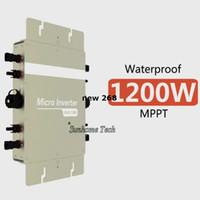 netz angeschlossener wechselrichter großhandel-Freeshipping 1200W Grid Tie Wechselrichter 1200W On Grid Wechselrichter, Eingang DC22-50V Ausgang AC120V oder 230V mit Powerline-Kommunikation