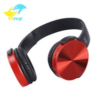 drahtlose kopfhörer bluetooth musik stirnband groihandel-Vitog 450BT Wireless-Kopfhörer Bluetooth Gaming Headset Stereo-Musik-Player Retractable Stirnband-Stereo-Kopfhörer mit Mic für PC-Telefon