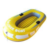 barco de água pvc venda por atacado-Barco de borracha Inflável barco PVC Conforto Preto Apertos de borracha inflável acessórios 2/3/4 pessoa caiaque pesca da ilha de água marinha