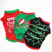 roupa de natal pequeno cão venda por atacado-Pet traje do Natal roupas para cachorros roupa dos desenhos animados para roupas Small Dog pano traje vestido Xmas para Kitty Dogs