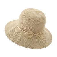 sombrero de papel paja mujer playa al por mayor-Papel hecho a mano del sombrero de paja sombrero para el sol poco voluminoso playa para mujeres y niñas Summer Beach Sun