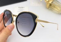 Wholesale cat black elegant for sale - New Fashion Selling Sunglasses Designer Cat Eye Plate Metal Combination Glasses Simple elegant Summer Style Eyewear UV400 Protection