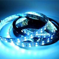 tiras de doble rollo led al por mayor-CRESTECH RGBW SMD 5050 de dos hileras de LED tira 600LED impermeable color mágico LED tira flexible de luz 5M / Rolls