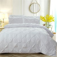 Wholesale designer double beds for sale - Group buy Luxury Duvet Cover White Solid Designer Bedding Set Queen King Twin Size for Adults Bedclothes Bedspreads for Double Beds