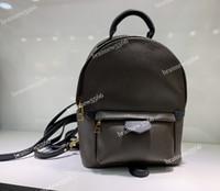 sac à bandoulière en cuir multifonction achat en gros de-19 Palm Springs Mini Sac à dos 41562 Multifonction Étudiant Double épaule Sacs en Cuir Véritable Grade Conception Sac à dos 41560