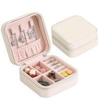 Wholesale jewelry accessories for women for sale - PU Single Layer Jewelry Box Creative Portable Jewelry Storage Box Earrings Ring Necklace Accessories Small Jewelry Box For Women LJJR206