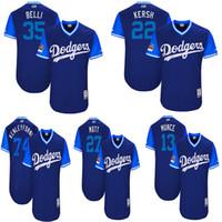 jersey kemp venda por atacado-Los Angeles Homens Dodgers Jerry Cody Bellinger Clayton Kershaw Kersh Matt Kemp Matt Corey 2017 Jogadores De Futebol Jersey De Fim De Semana