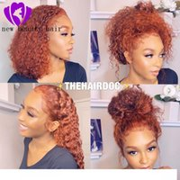 Wholesale curly red synthetic wigs resale online - Synthetic wigss loose curly lace front wigs Inch Cheep Kinky Curly Hair Female wigs for Black Women