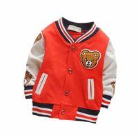 une 2 veste achat en gros de-Enfants Filles Vêtements Enfants Baseball Sweatershirt Toddler Marque De Mode Veste 2018 Printemps Automne Bébé Outwear Pour Garçon Manteau