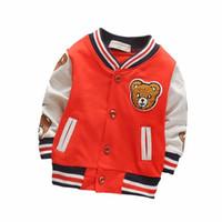beyzbol giysileri toptan satış-Çocuk Kız Giyim Çocuk Beyzbol Sweatershirt Toddler Moda Marka Ceket Erkek Ceket Için 2018 İlkbahar Sonbahar Bebek Giyim