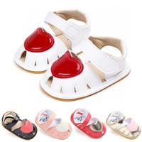 ingrosso sandalo rosso bambino-Sandali per bambina Scarpe per bambina estiva Cuore rosso per bambini Sandali adorabili Scarpe per neonati Spiaggia per bambini