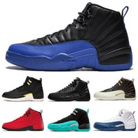 Wholesale 12s bordeaux for sale - Group buy 12 s Basketball Shoes White TAXI Flu Game French gamma blue Playoff Black Nylon Bordeaux Winterized Men Women j12 Sneakers
