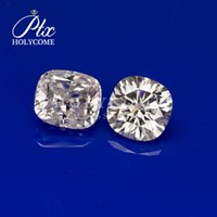 Wholesale cushion cut moissanite for sale - Group buy High quality stone jewelry def white color cushion cut loose synthetic moissanite vvs clarity price