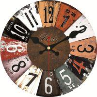 neue hölzerne wanduhren groihandel-New Design Vintage Holzuhren 16inch Design Stille Home Cafe Büro-Wand-Dekor-Uhren für Küchen-Wand-Kunst-große Wanduhren Brief