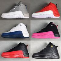 ingrosso vendita di scarpe sportive di marca-2019 marca 12 bambini scarpe bambini 12s scarpe da basket di alta qualità scarpe sportive giovanili ragazze sneakers in vendita taglia US11C-3Y UE 28-35