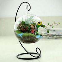 ingrosso vasi arancioni-6/8 / 10cm Creativo Clear Glass Terrarium Sfera a forma di globo Hanging Vaso Flower Air Plants Contenitore Paesaggio DIY Wedding Home Decor