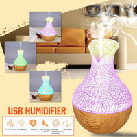 Wholesale foot lamp car resale online - 130ml Mini Air Lamp Humidifier Ultrasonic Mist Aroma Diffuser USB Essential Oil Diffuser Aromatherapy Humidifier For Home Car Office