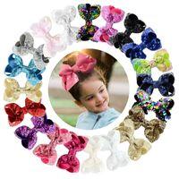 haarnadelentwurf großhandel-Infant Girl Hairpin 20 Design Stereoscopic Pailletten Bogen Haarspange Kids Headwear Baby Stirnbänder Mädchen Haarspangen 07