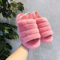 ingrosso le scarpe comode delle signore-Moda Velvet Donne Sandali pantofole con le signore di commutazione a nastro caldo e confortevole di marca Fur pantofole UG indoor scarpe peluche Furry Slipper C71908