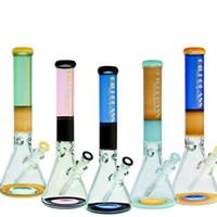 bongos 16 venda por atacado-Bongo de copo de vidro colorido e grosso de 16