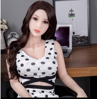 Wholesale beautiful toy sex resale online - Beautiful face new arrive Japanese love doll real silicone sex doll inflatable male masturbation toy