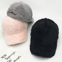 ingrosso cappello di snapback delle donne rosa-2018 inverno moda donna rosa berretto da baseball snapback cappello di velluto hip hop trucker berretto caldo pile snap posteriore tattico cappello nero # 220272