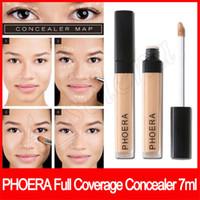 Wholesale full coverage concealer for sale - Group buy Face makeup Phoera Full Coverage Concealer colors long lasting radiant creamy concealer ml soft matte Liquid Foundation