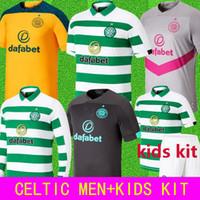 camisa verde preta venda por atacado-2019 2020 camisas de futebol Celtic 19 20 camisa afastado amarelo casa branca terceiro cinza goleiro verde camisas de futebol negro