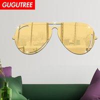 ingrosso decalcomania a specchio-Decora la casa 3D occhiali cartoon specchio wall sticker decorazione Decalcomanie murale pittura Wallpaper rimovibile G-349