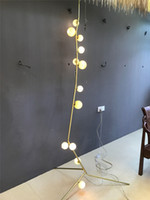ingrosso vetro bomba-Modern Glass Cherry Bomb Lampada da terra Lindsey Adelman Contemporary Living Lamp Nuovo per camera da letto Bar Living Room Home Lighting