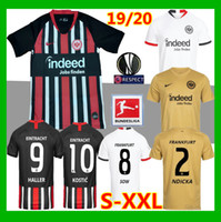 jerseys negros de alemania al por mayor-2019 Eintracht Frankfurt jerseys blancos 19 20 Frankfurt amarilla HALLER REBIC SOW KOSTIC PACIENCIA 2020 Alemania camisetas de negro
