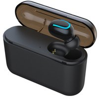 micrófono para auriculares de juego al por mayor-Q32 bluetooth 5.0 auriculares teléfono celular auricular con banco de potencia mini auriculares inalámbricos estéreo deportes inalámbrico EDR manos libres Gaming Mic Earbud
