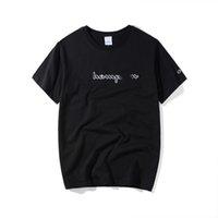 tshirts street style achat en gros de-2019 Hommes T-shirts D'été Nouveau Designer Marque Vêtements Marque Lettre Imprimer T-Shirt Tendance Street Style Tees 2 Couleurs