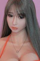 ingrosso bambole reali silicone sexy-Gonfiabile bambola in silicone semi-solida dimensione reale del sesso del silicone bambola amore giocattoli adulti sexy Vagina sesso anale
