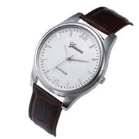 мужские кожаные часы тонкие оптовых-Ultra Thin Watches For Men New Men Leather Stainless Steel Dial Quartz Wrist Watch reloj hombre relogio masculino Relogio #10