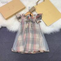 ropa de gama alta al por mayor-De gama alta Nuevo 2019 Vestidos de verano Ropa para niñas Ropa para niñas Vestido de princesa PinkWool Bee Design Girl