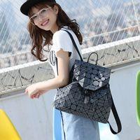 neue rucksackformen großhandel-Rosa sugao designer frauen rucksack mode luxus rucksäcke geometrische form falttaschen große kapazität matte bereifte tasche neue stil pvc-beutel