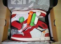erkekler beyaz ayakkabı moda toptan satış-Sıcak Tasarımcı 1 OG Erkekler Basketbol Ayakkabıları Kapalı Chicago Kırmızı Rahat Kadın moda spor ayakkabı Yeşil Beyaz Siyah Eğitmenler Sneakers