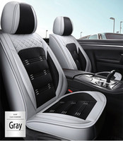 Wholesale seating covers resale online - Universal Fit Car Interior Accessories Seat Covers For Sedan PU Leather Adjuatable Five Seats Full Surround Design Seat Cover For SUV BM003