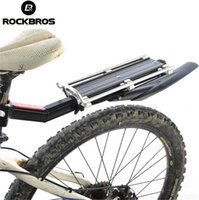 schnellbremse großhandel-ockBros Bike Scheibenbremse V Brake Aluminium Rack Fahrradträger Gepäckträger Sattelstützenhalterung Schnellspanner mit Schutzblech # 107111