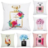 mor çantalar toptan satış-45 cm * 45 cm El boyalı çiçekler çanta süper yumuşak yastık örtüsü kanepe yastık kılıfı Ev dekoratif yastık coverH767