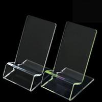 universal iphone mount venda por atacado-Universal geral claro transparente plástico montar suporte de exibição stand mostrado para iphone samsung celular telefone móvel