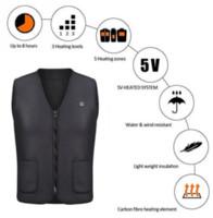 infrarouge thermique achat en gros de-Hommes Femmes Extérieur USB Infrared Chauffage Gilet Veste Hiver Flexible Électrique Thermique Vêtements Gilet Pour Sports Randonnée